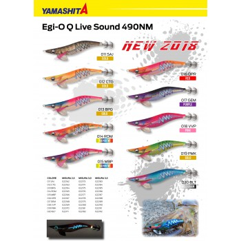 YAMASHITA EGI SUTTE Q LIVE SOUND 490NM MIS 3.0