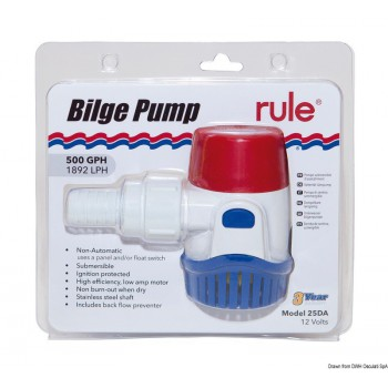 Pompa immersione Rule New Generation 500 12 V