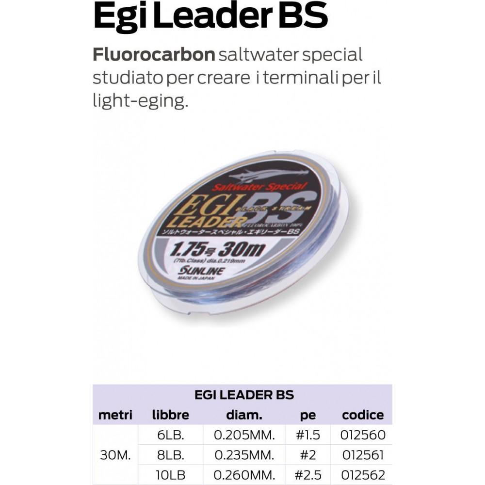 Fluorocarbon SUNLINE EGI LEADER BS 30mt