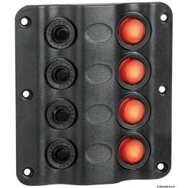 Pannello elettrico Wave 4 interruttori - mattiperlapesca.com