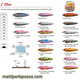 Slow Jig Sea Falcon Z Slow Jig 180gr - mattiperlapesca.com