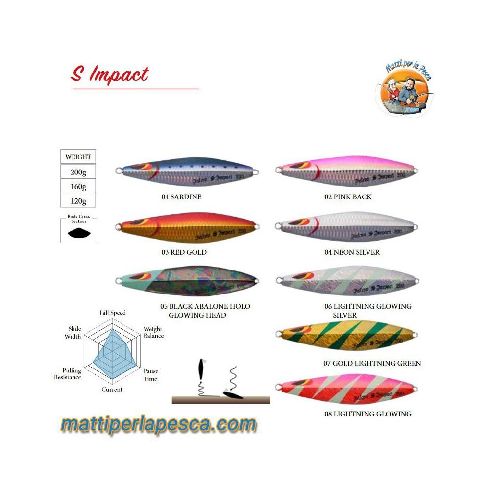 Artificiale Slow Jig Sea Falcon S Impact 160gr - mattiperlapesca.com