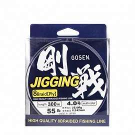 Trecciato Multicolor Gosen Jigging 8 fili 300MT 35LB pesca slow jig