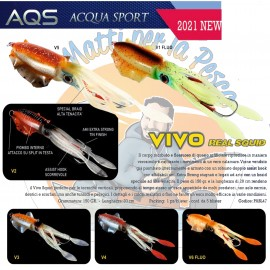 AQS esca artificiale Vivo Real Squid slow jigging pesca verticale imitazione calamaro
