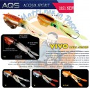 AQS esca artificiale Vivo Real Squid slow jigging pesca verticale imitazione calamaro