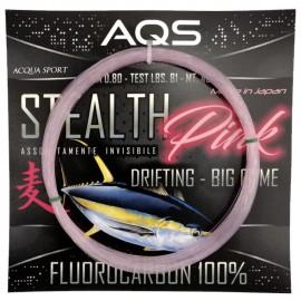 Stealth pink fluorocarbon 0,90 in matassine pesca drifting al tonno