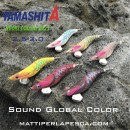 Kit 6 Pezzi Totanara Yamashita Egi Oh Live Sound Global Color 3.0 New 2021 pesca eging