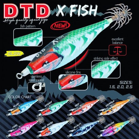 Kit 8 pezzi Totanara Oppai DTD Tataki X FISH 1.5 novità 2021 pesca calamaro