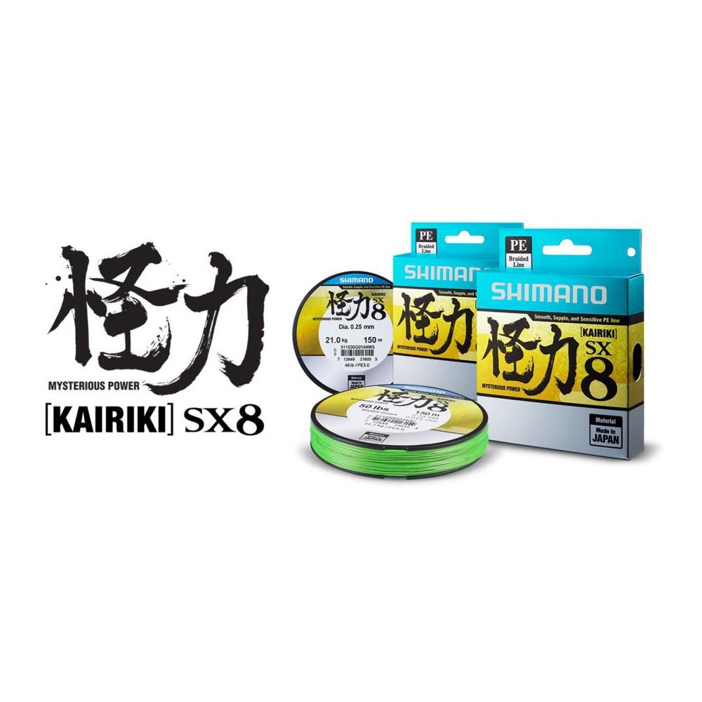 SHIMANO KAIRIKI PE 0.25 MANTIS GREEN 21 KG 300 MT