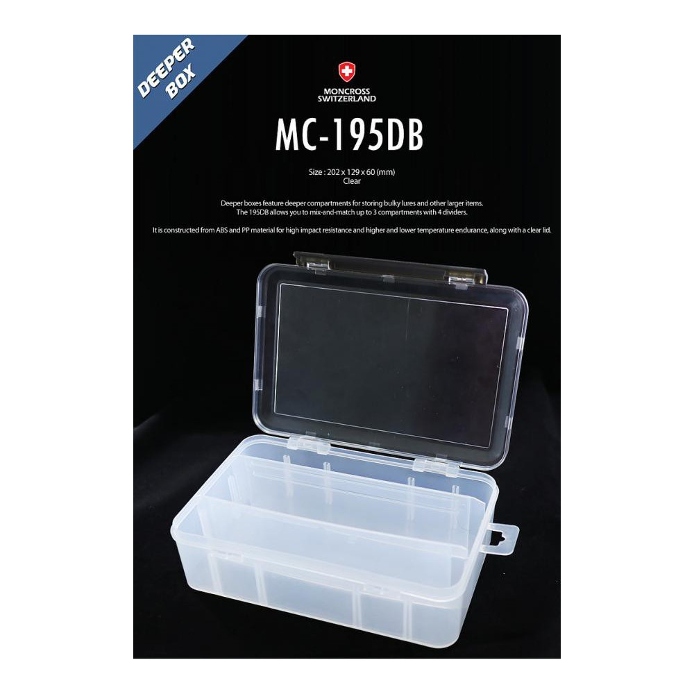 scatola moncross tackle box mc-195db clear