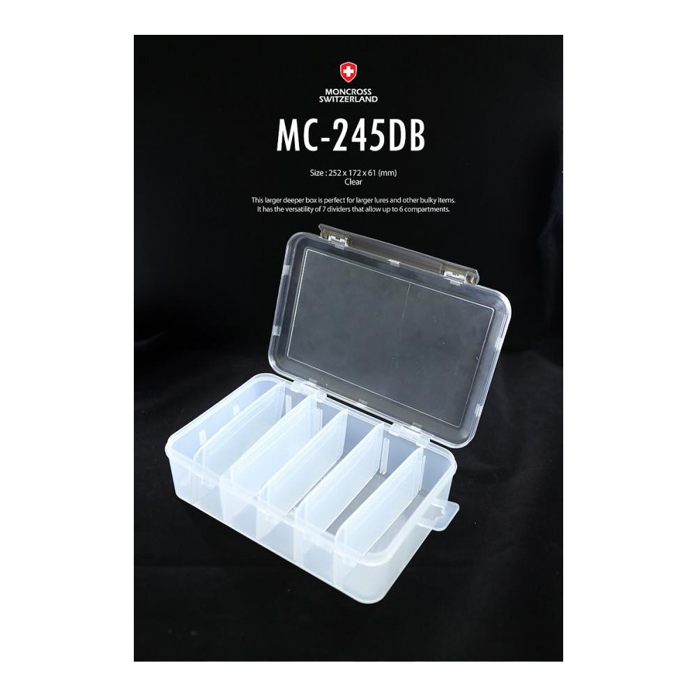 scatola moncross tackle box mc-245db clear
