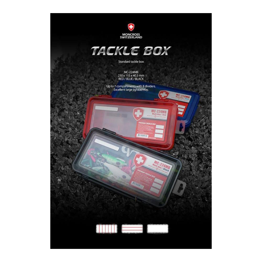 moncross tackle box mc-224mb red 230x115x40.5